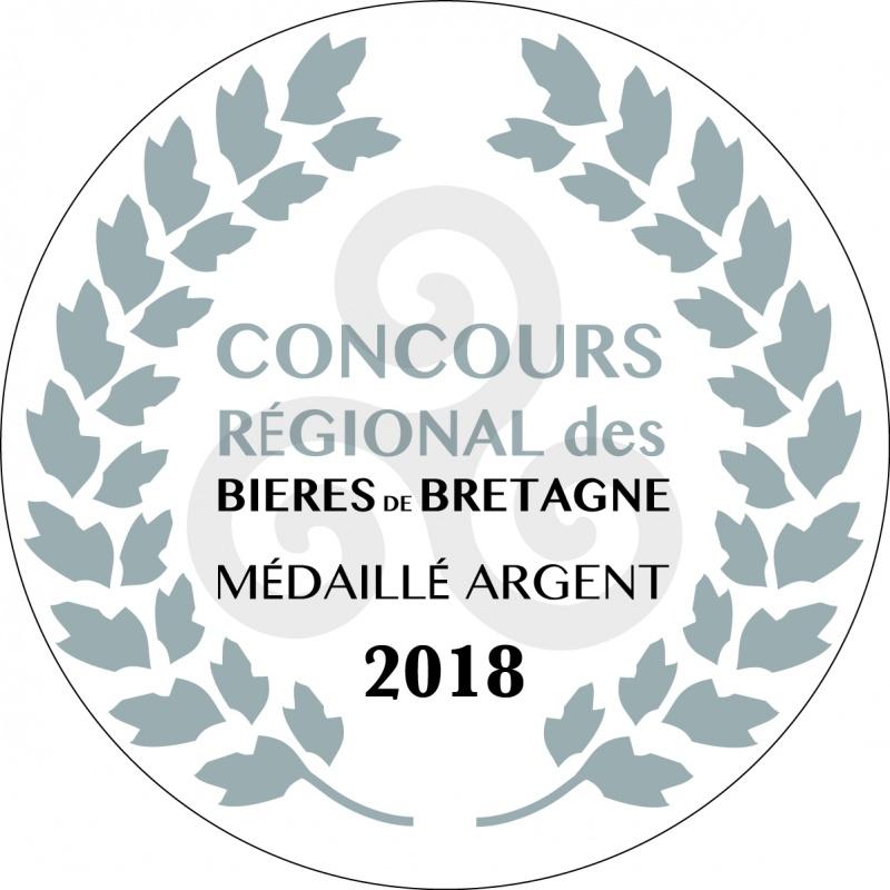 Médaille d'argent concours régional des bières de Bretagne