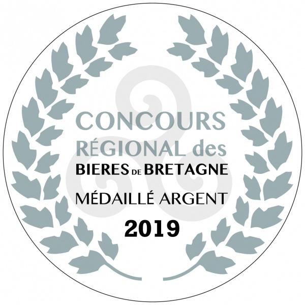 Médaille d'argent 2019 Concours régional des bières de Bretagne