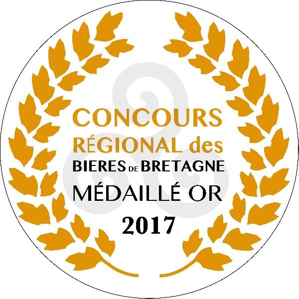 1 médaille d'or au Concours Terralies 2017 des meilleures bières bretonnes