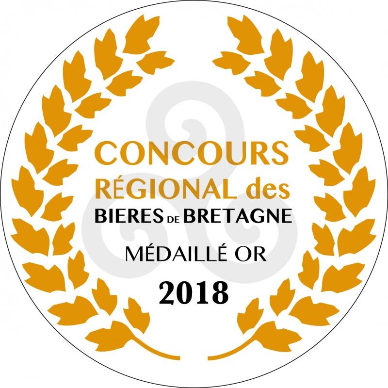Médaille d'or du concours régional des bières de Bretagne